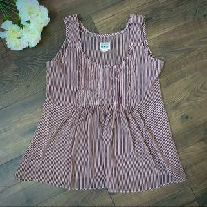 Converse striped sheer blouse large
